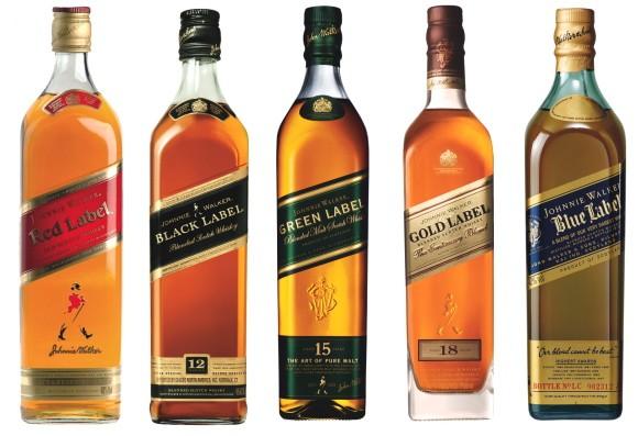 Bottles of Johnnie Walker